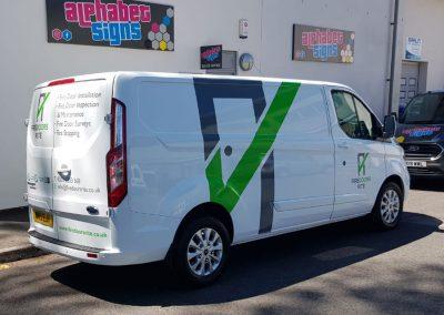 Alphabet Signs Vehicle Signage
